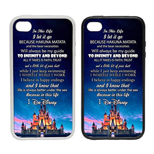 WTF | Samsung Galaxy S6 In This Life, I Do Disney | Clip on Phone Cover Case (Black Plastic) |