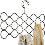 iDesign Classico cintre foulard avec 23 boucles, rangement suspendu en métal pour écharpes, cravates, ceintures, pashminas, e