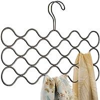 iDesign Classico cintre foulard avec 23 boucles, rangement suspendu en métal pour écharpes, cravates, ceintures…