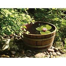 Der Besondere Garten Temesso - Cubo macetero (madera de roble, diámetro 70cm), diseño de tonel de vino