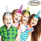 Vamei 12PCS unicornio fiesta sombreros Brillo Unicornio suministros de fiesta decoración de fiesta de color para niños y adultos