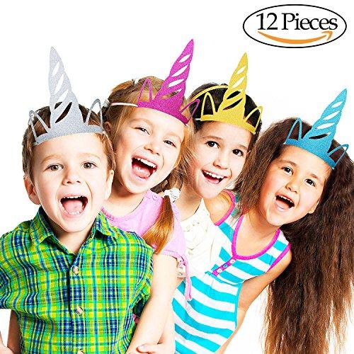 Einhornhüte für partys Einhornparty versorgt farbige Partydekorationen für Kinder und Erwachsene (Themen Für Erwachsene Geburtstagsfeiern)