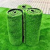 WENZHE-Artificiales sintético plástico Grass Césped Artificial Alfombra Hierba Artificial Alta Densidad Barato, 1 Metro De Ancho, 5 Tipos De Grosor Césped ( Color : A , Tamaño : 1*1m )