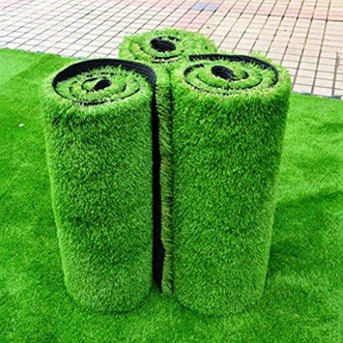 WENZHE-Artificiales sintético plástico Grass Césped Artificial Alfombra Hierba Artificial Alta Densidad, 1 Metro De Ancho, 5 Tipos De Espesor Césped (Color : A, Tamaño : 1 * 1m)