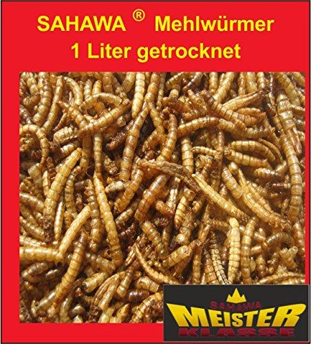 Mehlwürmer getrocknet 1000 ml , Schildkrötenfutter, Vogelfutter, Igelfutter
