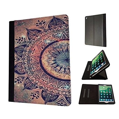 Paisley Bell (002911 - Paisley Aztec Henna Pattern Colourful Design Apple iPad 9.7 inch 2017 TPU Leder Brieftasche Hülle Flip Cover Book Wallet Stand halter Case)