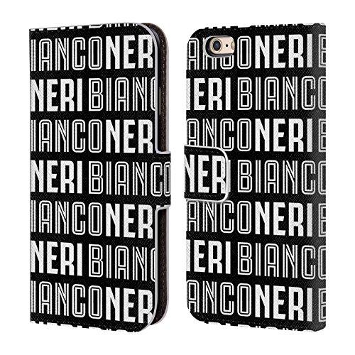 Ufficiale Juventus Football Club Bianconeri Nero Tipo Cover a portafoglio in pelle per Apple iPhone 6 / 6s Bianconeri