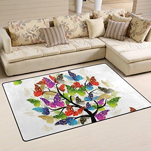 Bennigiry Kunstbaum Bereich Teppich Teppich Rutschfeste Eintrag Bodenmatte Fußmatten für Wohnzimmer Schlafzimmer 152,4 x 416 cm - 2