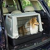 Ferplast 73079021W1 Autotransportbox ATLAS CAR MINI, für Hunde, Maße: 72 x 41 x 51 cm, grau - 3