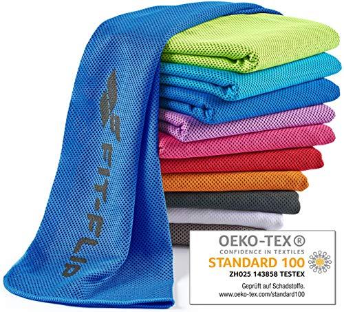 Fit-Flip Kühlendes Handtuch 100x30cm, Mikrofaser Sporthandtuch kühlend, Kühltuch, Cooling Towel, Mikrofaser Handtuch| Farbe: dunkelblau, Größe: 100x30cm (Tennis Cool)