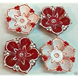 4 Pcs Contrast Color Best Diwali Puja Selfie Attraction DIYAS For Laxmi Puja With Traditional Home Decor Worthy Items : Amazon Great Indian Festival SALE : Last Piece