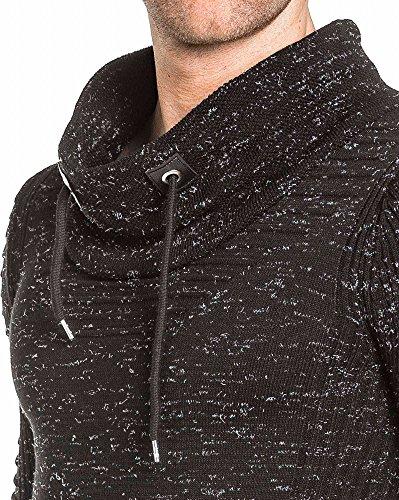 BLZ jeans - Pullover schwarzer Mann mit Kapuze Umhängekordel Schwarz