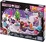 Mega Bloks Toy - Monster High Advent Calendar - Includes Xmas Dolls and Accessories 244 Pieces