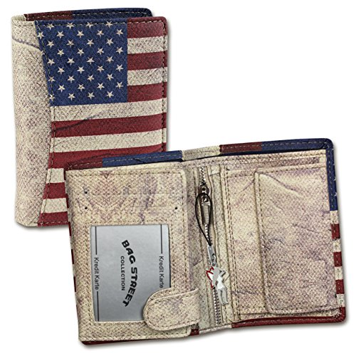 Bag Street - Usa Herren Damen Geldbörse Portemonnaie Geldbeutel Von Bag Street Hochformat - Multicolore