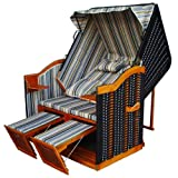 XINRO® XL Covered Poly Rattan Beach Chair Baltic Sea with Luxury Case Fully Reclining / Choose From 8 Colours