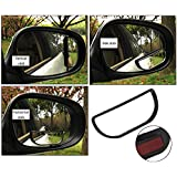 Car Mirror Up And Down Adjustable Blind Spot Auxiliary Mirror Small Square Mirror No Blind Spot Mirror For All Universal Vehicles Car Fit Stick-on Design