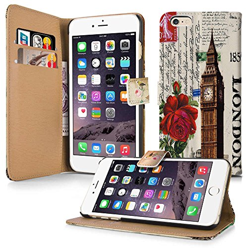 Apple iPhone 5 / 5s Handyhülle inklusive Displayfolie Keep Calm Carry ON London Vintage