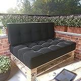 MSS® Relax-Set Sitz & Rücken Palettenkissen Anthrazit dunkel