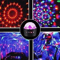 ICOCO Mini Discokugel - Lichtwechsel mit Musik tragbare wiederaufladbare Disco Led Lichte Leuchte Dekoration für Party Weihnachten