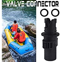 Bulary Bote neumático Spiral Air Plugs Rubber Boat Air Valve Connector Inflables Boat Valve Air Adapter Válvula de Tabla de Surf Inflatable Head Connector