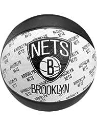 Spalding Team Ball Brooklyn Nets - Red para aro de baloncesto ( cuero ) , color negro, talla 7