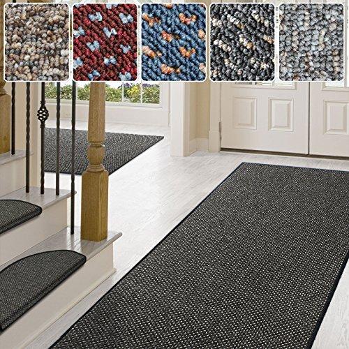 Teppich / Läufer in zahlreichen Größen | anthrazit, gepunktet | Qualitätsprodukt aus Deutschland | GUT Siegel | Küchenläufer, Flurläufer (80x200 cm)