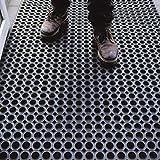 Tappeto in Gomma Antiscivolo a Griglia | Zerbino Ingresso Esterno, Antisporco, Drenante | Octo Door | Spessore 16mm - Varie Misure (100x150cm)