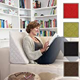 The Amazing Wedge for your Living- or Bed Room, Reading Pillow for Relaxed Sitting. 5 Uni-Colours for Trendy Room Design by Sabeatex (Beige)
