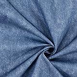 Fabulous Fabrics Dekostoff Outdoor Melange, wasserfest – blau — Meterware ab 0,5m — zum Nähen von Outdoor-Deko, Tischdekorationen und Kissen und Tagesdecken