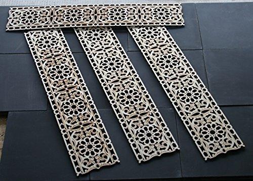 4x Holzornament Bordüre 231 (Ornamente Orientalische)
