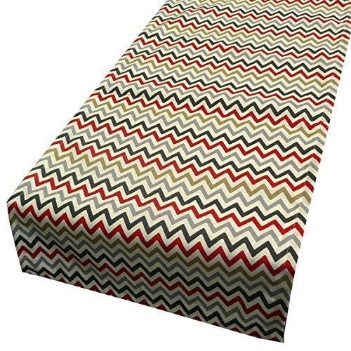 Schöner Leben Tischläufer Zick Zack Chevron orange grau 40x160cm