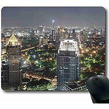 Extra grande Super alfombrilla de ratón con gato ciudad 8.66x 7pulgadas, Apto para gente de negocios mp084456