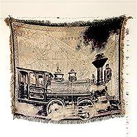 Doble cara algodón Tejido sofá BOSTON tren coche patrón decoración de la pared Sofá toalla playa