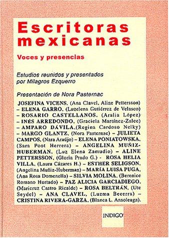 Escritoras mexicanas par EZQUERRO MILAGROS