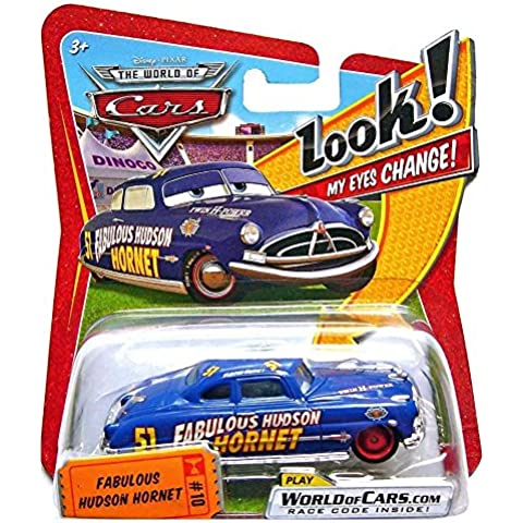 Disney Cars Cast 1:55 - Selezione Veicoli Modelli Indicatori Occhi, Cars:Fabulous Hudson Hornet