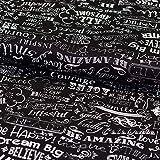 Brittschens Stoffe und Zutaten Stoff Baumwollstoff Timeless Treasure Chalkboard Words Meterware Stoff zum Nähen