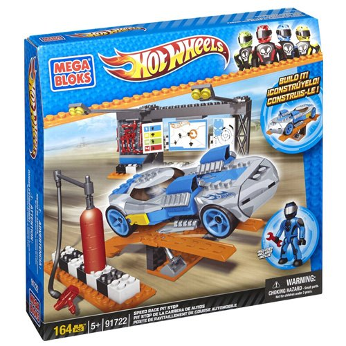 Mega Bloks 91722 - Hot Wheels Pit Stop Switch Out, Konstruktionsspielzeug -