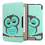kwmobile, Schutzhülle mit Öffnung Bookstyle für eReader Tolino Page, Mehrfarbig (Design Schlafende Eule)