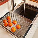 #3: Prexea Dish Drying Rack Over-The-Sink Folding Dish Drainer For Kitchen Use Drying Mat