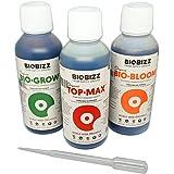 BioBizz - Try Pack Indoor - Pakket met drie flessen van 250 ml voedingsstoffen voor kamerplanten - Bio-Grow, Bio-Bloom, Top-M