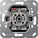 GIRA 015100 interruptor eléctrico Rocker switch Aluminio, Gris - Accesorio cuchillo eléctrico (Rocker switch, Aluminio, Gris, 250 V)
