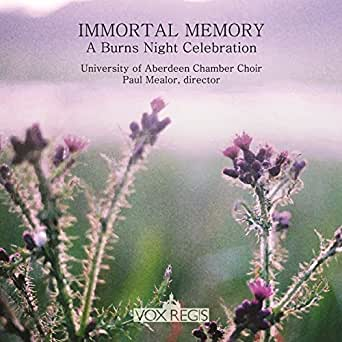 Immortal Memory: A Burns Night Celebration von University