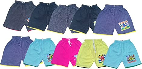 Manzon Kids Cotton Shorts - Pack of 10