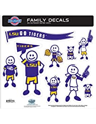 NCAA LSU Tigers Family Character Decals, Large