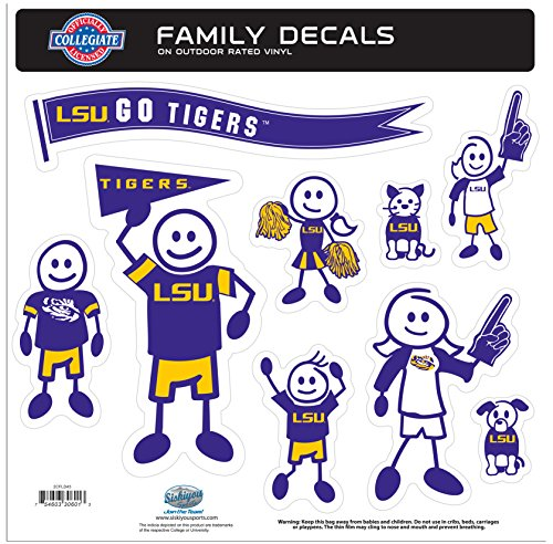 Siskiyou NCAA Family Character Aufkleber, groß, Aqua, Large (Maus-pad-basketball)