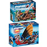 Playmobil Dragons & Knights 2er Set 5481 6039 Drachen-Kampfschiff