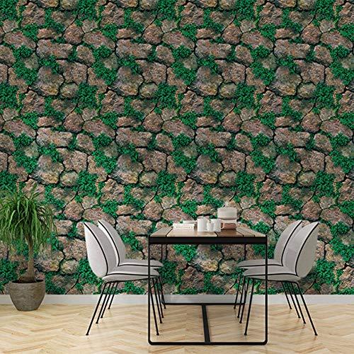 Yologg Carta Da Parati 3D Adesivo Murale In Pietra Moderna Ristorante Cafe Home Decor Carta Da Parati Impermeabile Rivestimento Amovibile Ecologico-280X200Cm
