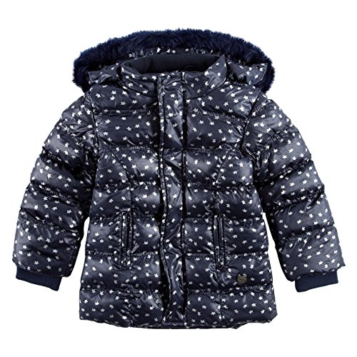 Boboli Reversible Technical Fabric Parka For Girl, Giubbotto Bambina, Blau (Print 9305), 5 anni