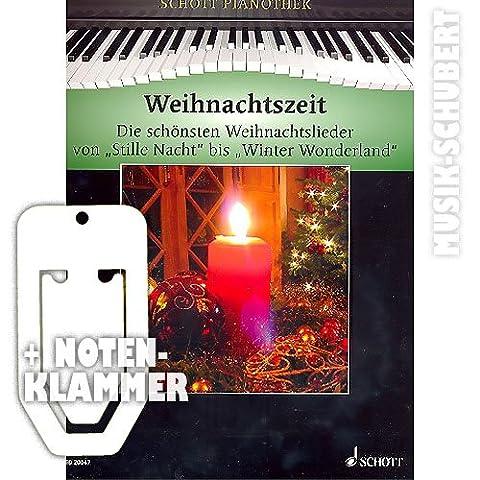 Weihnachtszeit für Klavier inkl. praktischer Notenklammer - Die 38 schönsten Weihnachtslieder von STILLE NACHT bis WINTER WONDERLAND und die 12 schönsten klassischen Weihnachtsmelodien in einem Band mittelschwer arrangiert (Taschenbuch) von Hans-Günter Heumann (Noten/Sheetmusic)