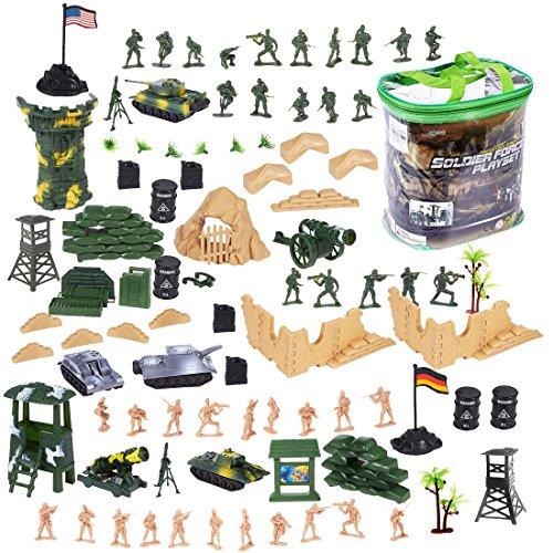 deAO Soldados en Battalla Fuerzas Armadas Unidad de Defensa Militar Figuras de Acción Coleccionable Set Más de 100 Piezas en Total
